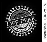 off peak chalkboard emblem | Shutterstock .eps vector #1203995872