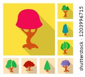 vector illustration of tree and ...   Shutterstock .eps vector #1203996715