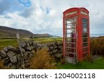 old fashioned red telephone box ... | Shutterstock . vector #1204002118