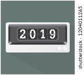 happy new year 2019   Shutterstock .eps vector #1204011265