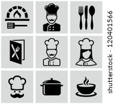 chef icons | Shutterstock .eps vector #120401566