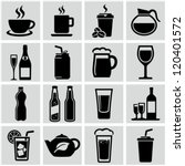 beverage icons | Shutterstock .eps vector #120401572