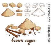 vector set of different forms... | Shutterstock .eps vector #1204021678