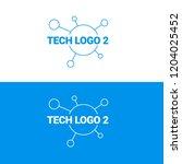 tech logo design. vector modern ... | Shutterstock .eps vector #1204025452