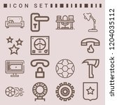 simple set of  outline icons on ... | Shutterstock .eps vector #1204035112
