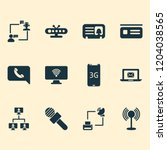 connection icons set with... | Shutterstock .eps vector #1204038565
