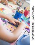 detail of elementary school art ... | Shutterstock . vector #12040387