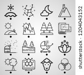 simple set of  16 outline icons ... | Shutterstock .eps vector #1204043152