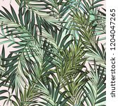 beautiful vector tropical palm... | Shutterstock .eps vector #1204047265
