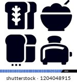 set of 4 food filled icons such ... | Shutterstock .eps vector #1204048915