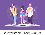 people hipster fashion style... | Shutterstock .eps vector #1204060105