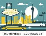 las vegas nevada skyline | Shutterstock .eps vector #1204060135