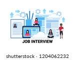 curriculum vitae recruitment... | Shutterstock .eps vector #1204062232