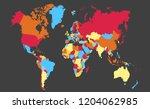 color world map vector | Shutterstock .eps vector #1204062985