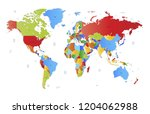 color world map vector | Shutterstock .eps vector #1204062988