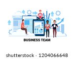mix race people brainstorming... | Shutterstock .eps vector #1204066648