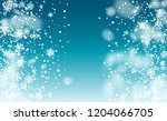 realistic snow background.... | Shutterstock .eps vector #1204066705
