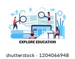 business people holding... | Shutterstock .eps vector #1204066948