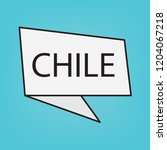 chile word on a sticker  vector ... | Shutterstock .eps vector #1204067218