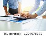 business people meeting design... | Shutterstock . vector #1204075372