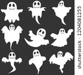 ghost  a set of ghosts for... | Shutterstock .eps vector #1204081255