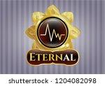 golden badge with... | Shutterstock .eps vector #1204082098