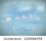 illustration of merry christmas ... | Shutterstock .eps vector #1204086958