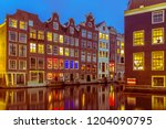 nightscape of colorful...   Shutterstock . vector #1204090795