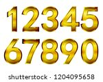 golden numbers set.vector gold... | Shutterstock .eps vector #1204095658