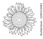 sunflower simple drawing... | Shutterstock .eps vector #1204112062