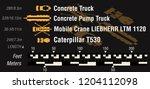 set of building site... | Shutterstock .eps vector #1204112098
