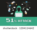 51  attack concept flat... | Shutterstock .eps vector #1204114642