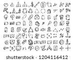 set of vector business doodle... | Shutterstock .eps vector #1204116412