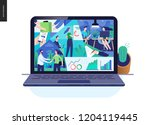 business series  color 2  about ... | Shutterstock .eps vector #1204119445