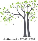 beautiful tree branch with... | Shutterstock .eps vector #1204119988