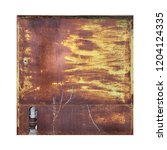 squared rusty and worn iron... | Shutterstock . vector #1204124335