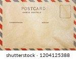 back of airmail blank postcard... | Shutterstock . vector #1204125388