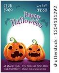 happy halloween editable poster ... | Shutterstock .eps vector #1204131292