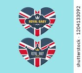 set of vector royal icon heart... | Shutterstock .eps vector #1204133092