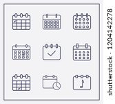 outline 9 week icon set.... | Shutterstock .eps vector #1204142278
