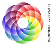 logo rainbow circle. the symbol ... | Shutterstock . vector #1204142548