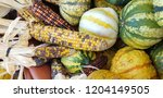 autumn vegetables and fruits | Shutterstock . vector #1204149505