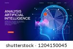 deep learning. analysis... | Shutterstock .eps vector #1204150045