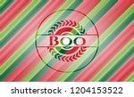 boo christmas badge.   Shutterstock .eps vector #1204153522