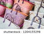 handmade beach  handcrafted... | Shutterstock . vector #1204155298