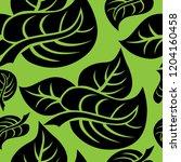 vector seamless floral pattern... | Shutterstock .eps vector #1204160458