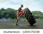 handsome african american... | Shutterstock . vector #1204170238
