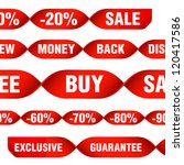 various discount tags and labels | Shutterstock .eps vector #120417586