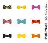 elegant bow tie icon set. flat... | Shutterstock .eps vector #1204179262