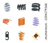 flexible cable icon set. flat... | Shutterstock .eps vector #1204179268